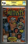 New Mutants 87 Cgc 9.6 Signed Simonson Liefeld 1st Cable 1580644009