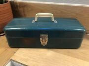Vintage - Union Steel Tool Box Chest- Blue Utility Tackle Box