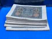 1920 Germany Weimar Rep. 100 Marks P69 Lot Of 99 Circulated Reichsmark Notes
