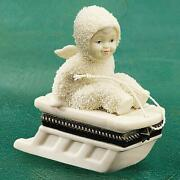 Snowbabies Hold On Tight  Bisque Hinged Box 68884 New By Dept 56
