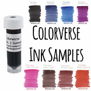 Colorverse Fountain Pen Ink 3ml Samples - Color Group S1 - S5 - Pick Your Favs