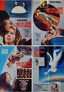 Man Who Fell To Earth Italian 1f Movie Posters X4 1976 David Bowie Super Rare