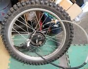 1996 Xr200r Honda Front Tire And Complete Hand Brake Assembly Works Goodandnbsp