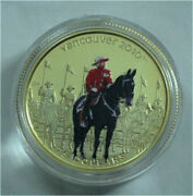 Canada 2010 Vancouver Olympics 75 Dollars Gold Coin Color Rcmp