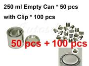 200 Ml Empty Metal Paint Can 50 Cans And Lids With Lock Clips 100pcs