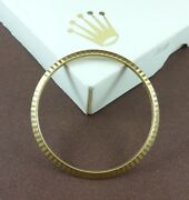 Rolex Yellow Gold Fluted Bezel For President And Datejust References 1600 And 16000