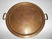 Antique Turkish Brass Tray Middle Eastern 15.25
