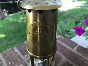 Vintage Brass Eccles Type 6 Mining Lamp M And O
