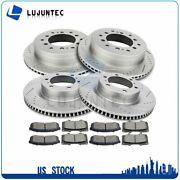 Front Rear Ceramic Pads And Rotors Brake For 2010 Lexus Gx460 Toyota 4runner