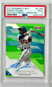 2017 Bowmanand039s Best Ronald Acuna Best/ 2017 Auto - Green Refractor Psa 9 /99