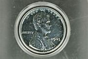 1943 Lincoln Silver Steel Penny 1 Cents Rare M-578