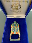 Disney Disneyland Club 33 Candlelight 2004 Stained Glass Boxed Le 300 Pin