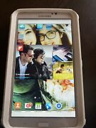 Samsung Galaxy Tab 3 Sm-t210 8gb, Wi-fi, 7in - White With Otter Case