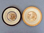 A Pair Of The Art Of Chokin Gold Rimed Plates From Japan