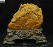 Old Dynasty Top Natural Tianhuang Shoushan Stone Carved Dragon Seal Stamp Signet