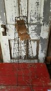 Antique Early Country Store Wire Bag And String Holder Counter Style