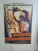 Texas Chainsaw Massacre 4and039 X 6and039 Vintage French Grande Movie Poster Original