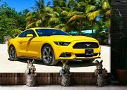 3d Ford Mustang O368 Transport Wallpaper Mural Self-adhesive Removable Amy