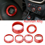 Headlightandair Conditioning Button Switch Ring Trim For Jeep Cherokee 2014-2020
