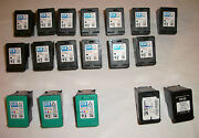 Lot 30 Empty Hp 92 93 60 And Lexmark 1 Ink Cartridges Untested Most Virgin Refill