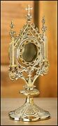 N.g. Brass Cros Reliquary Catholic Relic Holder For Church Supplies, 11 1/2 Inch
