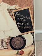 Willimantic The Best Thread For Sewing Machines Vintage Sign Aaa Sign Co Ct Conn