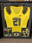 Lamichael James Game Style On Field Jersey Signed Oregon Ducks Free Shipping