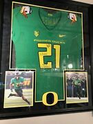 Lamichael James On Field Style Team Issue Jersey Puddles Oregon Ducks Signed