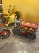 1950andrsquos Marx Climbing Tractor And Lawn Cutter Vintage Great Shape Windup
