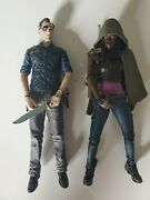 The Walking Dead Tv Show Mcfarlane Toys Series 3 Michonne And Governor Figures