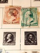 Antique Stamp Book Many Rare George Washington Stamps And Franklin 1 Cent