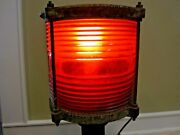 Vintage Maritime Red Port Side Signal Light, Western Railroad Supply Co, Chicago