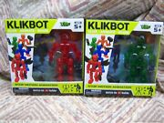 2 Zing Stikbot Klikbot - Helix And Axil - Stop Motion Animation Action Figures