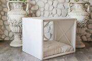 Lynx, Indoor Wood Dog House, White Modern Crate, Luxury Pet Furniture, Sofa Bed