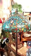 Gorgeous Aspen Stained Glass Style Azure Sea Floor Lamp 65 Lpuo