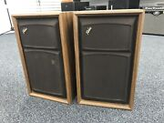 Fisher Loudspeaker System Set Of Two Speakers Vintage - Made In Ny Usa