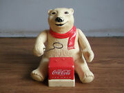 Old Vintage Battery Powered Coca-cola Advertising Teddy Toy, Working Order...