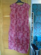 New Next Size 18 Petite Rosy Pink Lacey Floral Dress...rp Andpound 60
