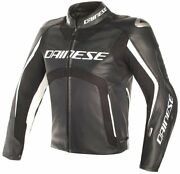 Dainese Misano Leather Jacket D Air Black/white With Airbag System