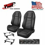 Tmi Pro Series - Highback Bucket Seats And Brackets For 1966-72 Chevelle W/bench