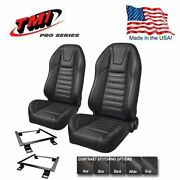 Tmi Pro Series - Highback Bucket Seats And Brackets For 1968-72 Chevy Ii W/bench