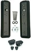 Small Block Chevy Black Aluminum Short Milled Valve Covers + Breather And Pcv 5.0