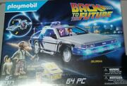 Playmobil 70317 Back To The Future Delorean Time Machine 64 Piece Set Limited
