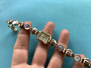 Antique 14k Inca Bloc Rose And Yellow Watch W/ Moonstones And Rubies