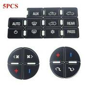 5 Good Quality Ac Button Repair Parts Stickers For 2007-2014 Gm Vehicles Decal