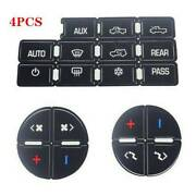 4 Good Quality Ac Button Repair Parts Stickers For 2007-2014 Gm Vehicles Decal