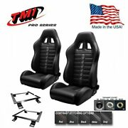 Tmi Pro Series Chicane Sport X Racing Seats And Brackets For 2005-2014 Mustang