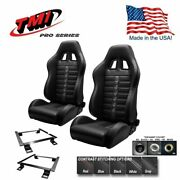 Tmi Pro Series Chicane Sport X Racing Seats And Brackets For 2015-2018 Mustang