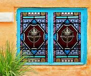 3d Crown Of Cross O611 Window Film Print Sticker Cling Stained Glass Uv Block Am