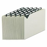 Steel Top Tab Recycled A-z File Guides 1/5 Tab Letter Gray Pressbd 25/set